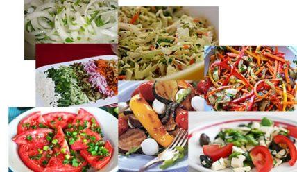 Рецепты лёгких салатов к шашлыку