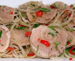Закуска «Холодный шашлык» из свинины