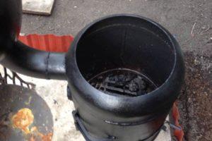 Печь для казана своими руками из газового фото 593