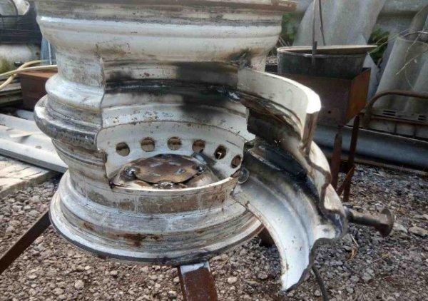 Печь из дисков автомобиля для казана фото